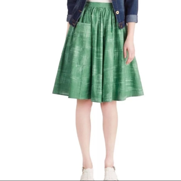 519e8809 Modcloth Skirts | Bea Dot Green Skirt | Poshmark